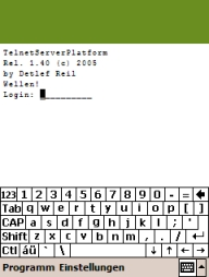 Screenshot 3- Terminal Emulation
